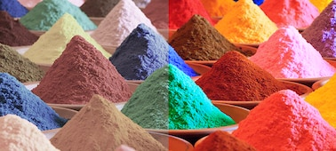 Image of coloured sand showing Triluminos PRO