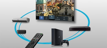 Image of connected devices controlled by Smart Remote