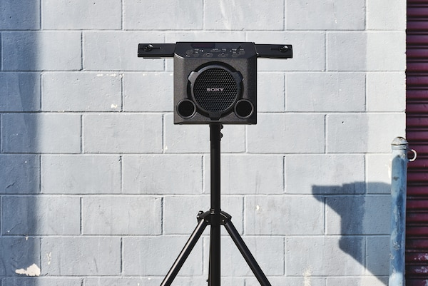 GTK-PG10 on a tripod