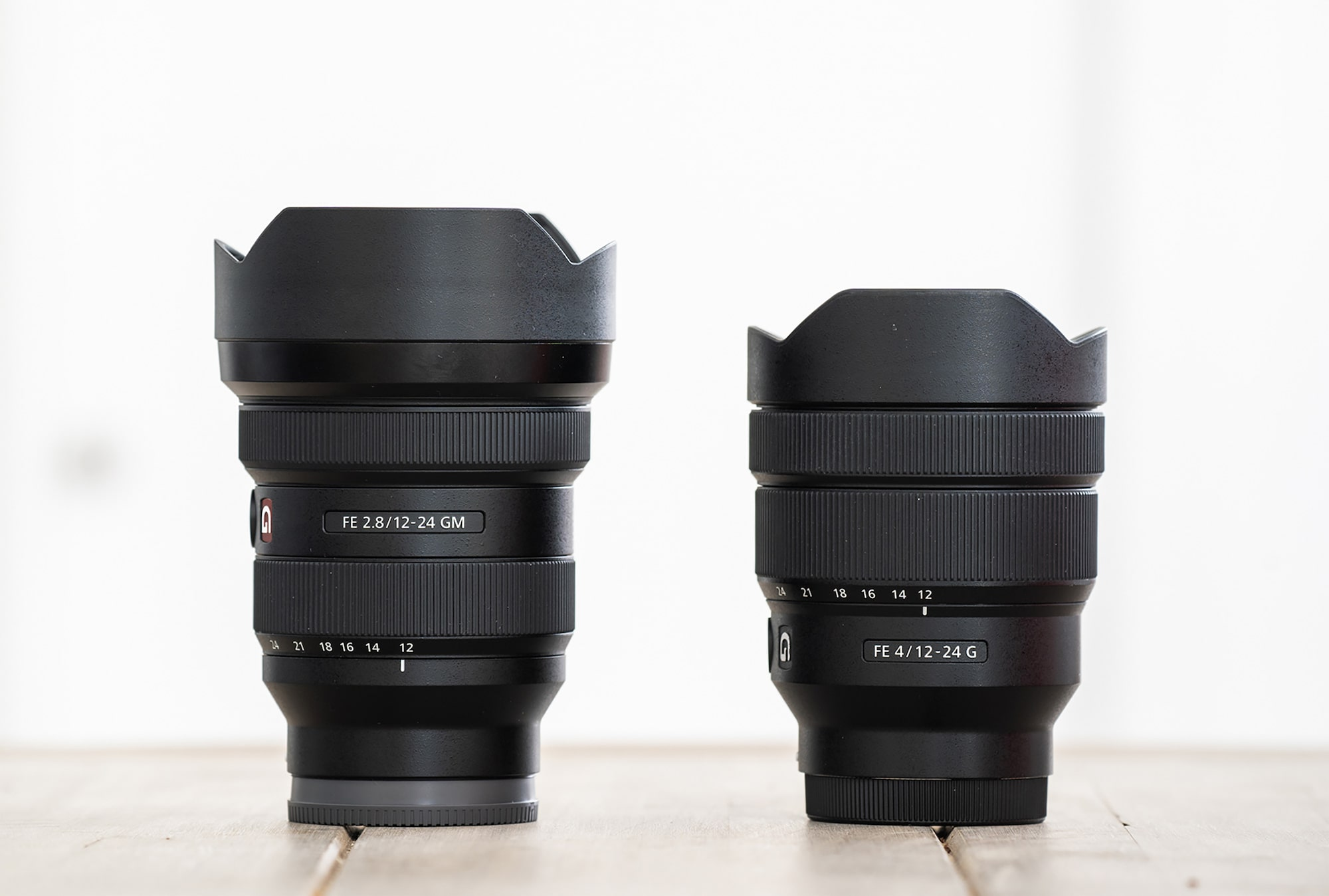 albert dros sony alpha 7RM3 sony FE1224GM alongside the sony FE 1224G for comparison