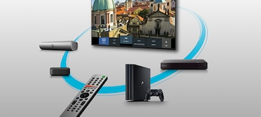 Smart remote connected to multiple devices