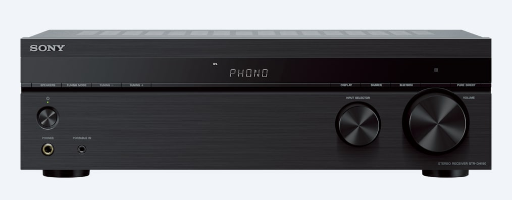 Images of Stereo Receiver Phono Input and Bluetooth® Connectivity  | STR-DH190