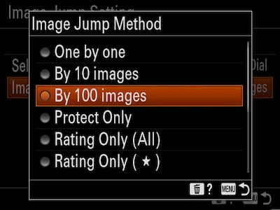 Efficient image selection