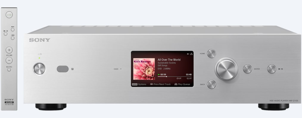 Images of High-Resolution Audio HDD Player