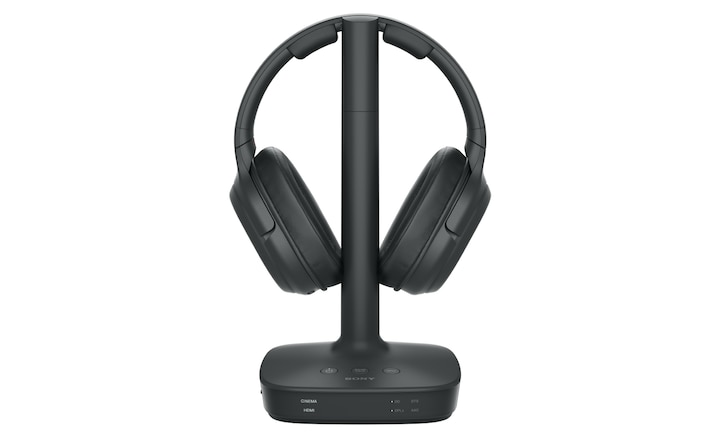 WH-L600 headphones on charging stand