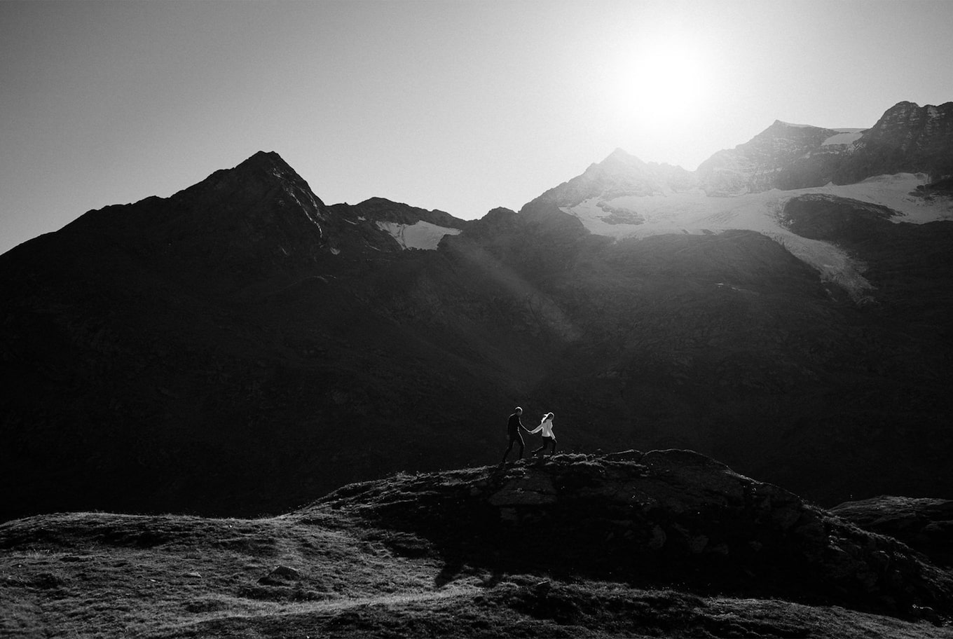 yannick zurfluh sony alpha 9 couple eloping in the mountains