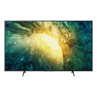 TV showing 4K detail in rock and ice formations