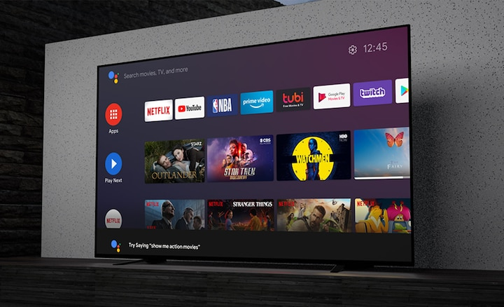 Image showing apps on a BRAVIA TV