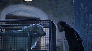 christophe-brachet-sony-alpha-7RII-menacing-looking-man-at-night-staring-at-dog-in-cage