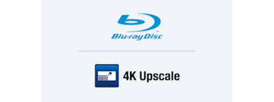 4K upscaling and Blu-ray Disc™ player