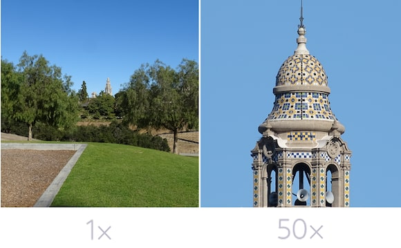 50x optical zoom & 52x digital zoom