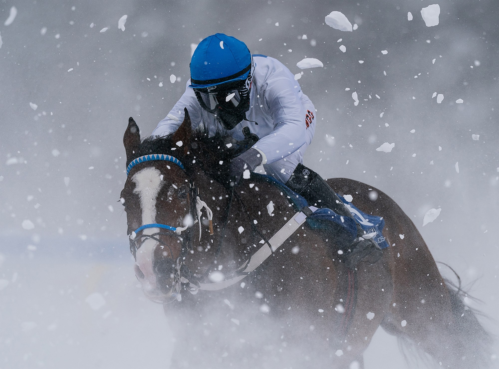 bob martin sony alpha 9 a jockey battles his horse through a snowstorm