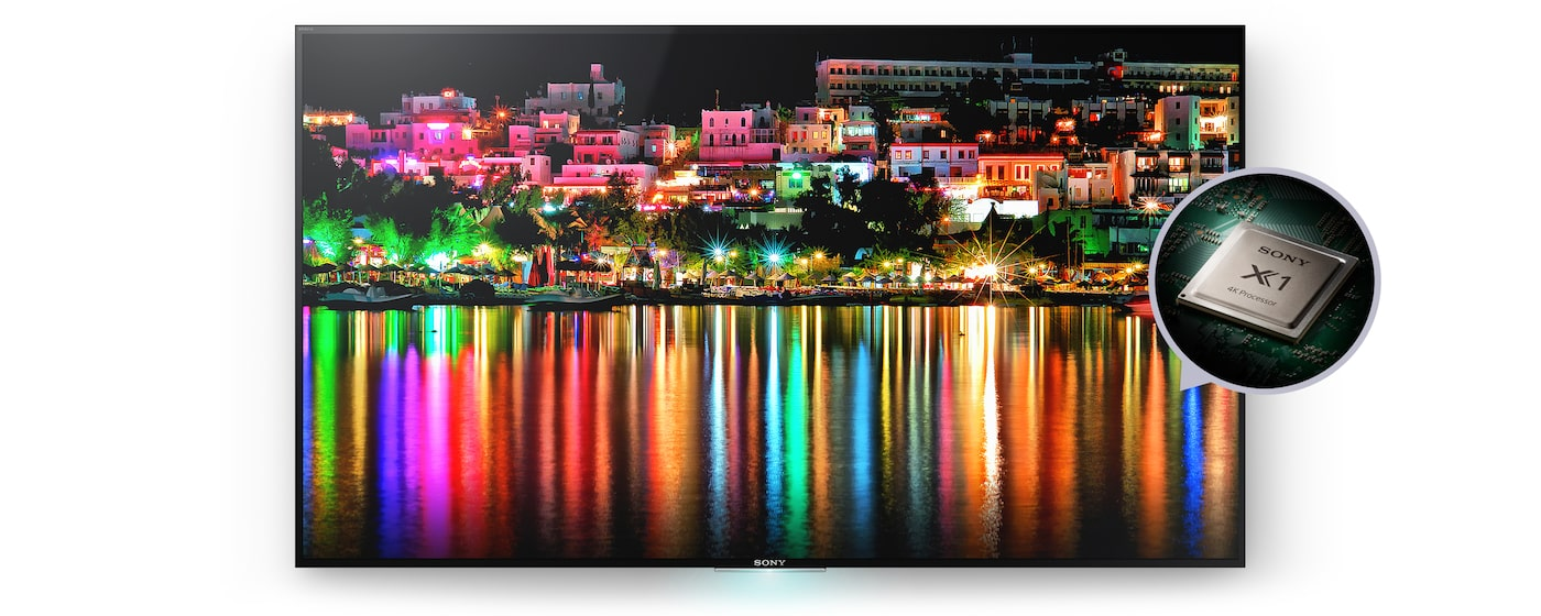 Sony 4K TV with 4K Processor X1