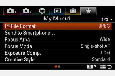 Image of My Menu feature for quick access